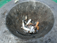 ※写真/タバコの吸い殻