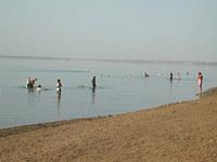※写真/死海で遊ぶ人たち