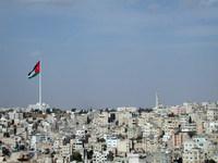 大きいヨルダン国旗の画像
