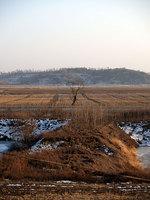 中国の丹東のはずれにある虎山長城より
